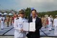 명현관 해남군수, 해군 '해남함' 명예함장 위촉